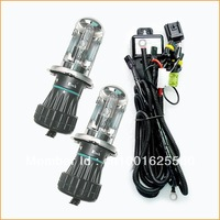 Free shipping, 2x35w H4 bi-xenon hid 8000K bulb, high quality