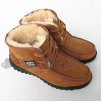 Men's high-top shoes 2012 wool and fur in one men's wool shoes thermal snow boots male boots casual shoes