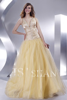 11G054 Summer 2014 Sweet 16 Quinceanera Dress Ball Gowns V-Neck Corset Backless New Floor Quinceanera Dresses