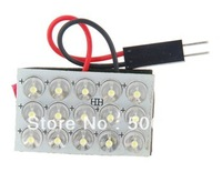 Free shipping+Guaranteed 100%+Car White Light 15-LED Dual Connector Reading Lamp (White)