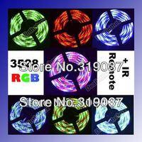 Promotion 5M RGB 3528 Flexible Waterproof 300 Led Strip Light +24 Keys IR Remote freeshipping dropshipping