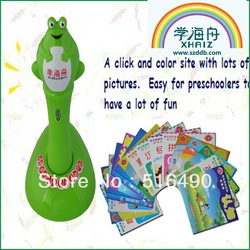 Free Shipping Popular Wholesale Speaking Pen Interactive Toys for Children One Year guarantee /OEM service(China (Mainland))