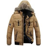 Korean style men down jacket/mens winter cotton warm coat/ men's down clothes/new arrival men down jacket+free shipping