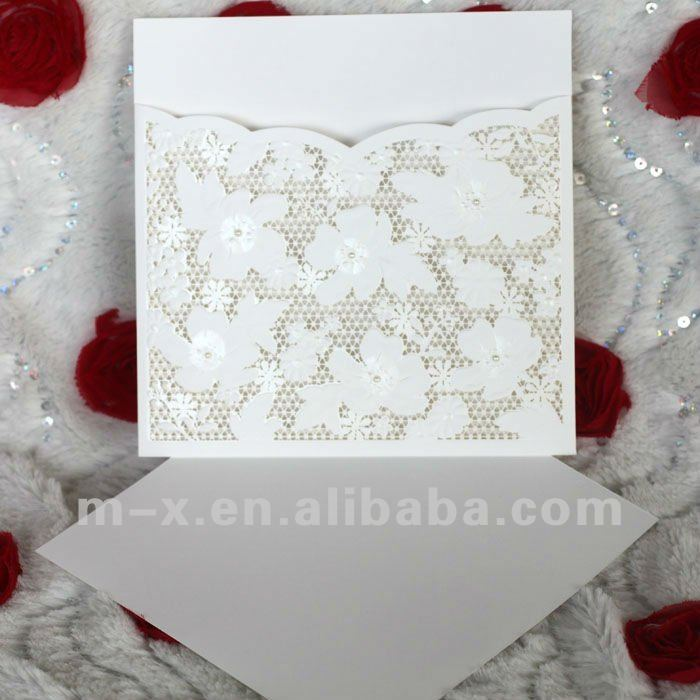 EA719 White Laser Cut Wedding Invitation Card Models