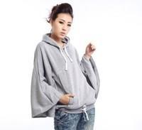 Hot sale 2012 autumn and winter shirt batwing shirt hooded long-sleeve sweatshirt