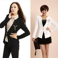 Hot sale 2012 women's plus size elegant slim corsage decoration women's blazer coat