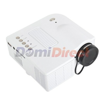 UC28 Mini projector LED Digital Video Game Projector Native320 X 240   VGA  AV  USB  SD card input