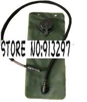2.5L Green hydration bladder pouch reservoir with black cap