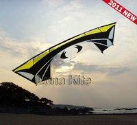 """Huge Quad Line Kite 110"""" +Dyneema Line+13"""" Handle Carbon rod Kite Sport Kite LK016"""
