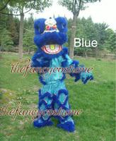 Single Woollen Lion Dance Mascot Costume Southern Style Bamboo Weaving Head Celebration Fancy Dress Drop Shipment