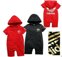 Baby Boys romper kids children print hooded short sleeve Romper boy girls rompers 1128 B why
