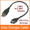 USB 2.0 A to Mini B 5pin Male Data Charger Cable for MP3 MP4 GPS Camera,800pcs/lot Free DHL(China (Mainland))