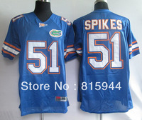 Florida Gators #51 Brandon Spikes blue ncaa football jerseys size 48-56 mix order free shipping
