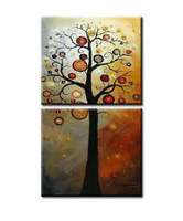 2p Modern Large Abstract Art Oil Painting On Canvas(No Frame)