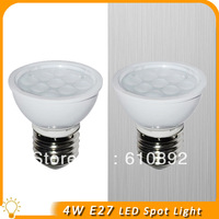 100lots/High bright 4W LED Spot Light. / SMD5630 / E27 / AC100~245V free shipping