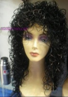 Elegant Black curly Synthetic Girl Women's Wig / Wigs