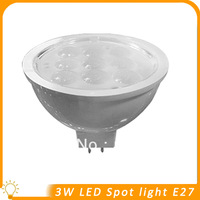 50 lots/High bright 3W LED Spot Light. / SMD5630 / MR16 / DC12V Warm white free shipping