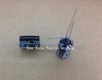 Free Shipping 200pcs 220uF 35V 105C Radial Electrolytic Capacitor 8x12mm
