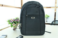 Free shipping Hight quality Naylon Knapsack  Laptop Backpack Shoulder Bag Black