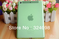 30pcs Classic silicone translucent case for iPad Mini Soft crystal cover multicolor shield free shipping ,for ipad mini cover