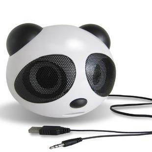 Panda USB notebook computer mini stereo speaker(China (Mainland))