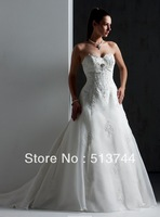 2013 free shipping Charming attractive  Stock  Wedding Dress Bridal Sz  2 4 6 8 10 12 14