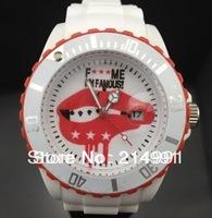 1pcs 7# ME famous Cartoon red Lips  watch quartz 116610 digital watches 8 color can mix