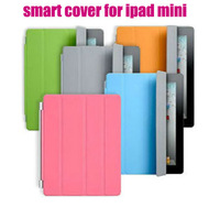 10/lot.Free shipping.High Quality For iPad Mini Magnetic Smart Cover/Case with Sleep and Wake Function,smart cover for ipad mini