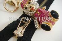 Custom size & colour ,whole sale ideal #5 pocket & shoes zipper,light gold zipper,wire puller