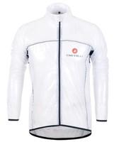 castelli White 2012 cycling raincoat/Windbreaker, cycling rain jacket,transparent raincoat