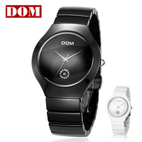 Free shipping DOM Mens waterproof watch ceramic table vintage men's watch fashion brand mens Wristwatches