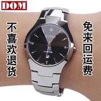 Free shion DOM Tungsten steel mens watch brand tungsten steel Wristwatches fashion male Wristwatches