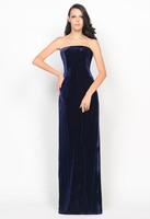 11P065 Unique Strapless Velvet Slim-Line Long Gorgeous Luxury Elegant Unique Brilliant Formal Prom Evening Dress Party Dress