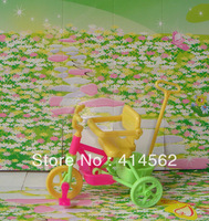 free shipping, doll accessories, 20pcs/lot, baby care, baby stroller, 3 wheels