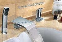 Brass Chrome Bathroom Waterfall Faucet Set - Free Shipping (M-6009-2)