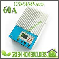 100% TRUE 12/24/36/48V auto work 60A MPPT Solar Charge Controller Regulator ET6415
