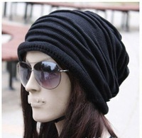 cap,Winter hat,1pcs,Korean version of popular folding Fashionable men and women knitting wool cap,5color,Free shipping. W4111