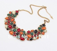 Min order $10USD(mix order) Europe&America Exaggerated Fashion luxurious geometry unique statement necklaces Jewelry SPX1663