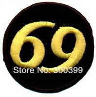 Embroidered  Patch Chinese Letter -69 E1007