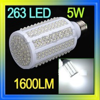 LED E27 10W White 263 Home Corn Light Bulb Lamp Energy Saving 220V 1600LM, Free Shipping