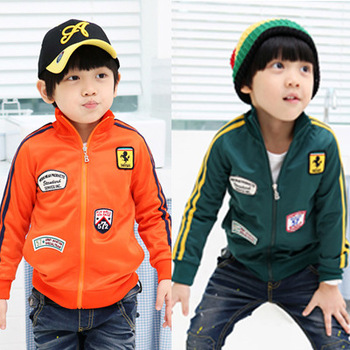 Free shipping Clothing male child baby autumn 2012 zipper sweater cardigan casual sports outerwear