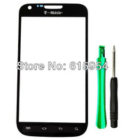 Touch screen Outer Glass Lens + free tools & 3M adhesive for Samsung Galaxy S2 T989 S 2 II Black