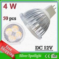 Super bright spotlight bulb_high lumen 4*1watt MR16 DC12v globe led bulb free shipping