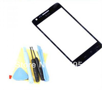 Replace Touch screen Outer Glass Lens for Samsung Galaxy S2 i777 S II 2 Black  +free tools & 3M adhesive