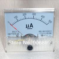 1pcs New Fres Shipping 500uA DC AMP Analog Current Panel Meter Ammeter 0-500uA