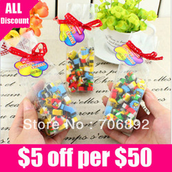 Retail Free Shipping New Creative Cute Mini Colorful Cartoon Animal Funny Rubber Eraser 1pack/lot(China (Mainland))