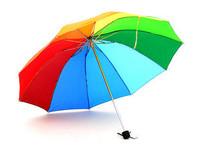 [ANYTME]Wholesale & Retail - Steel Plus Size Big Folding Rainbow Three Fold Sun Protection Rain Beach Umbrella - Free Shipping