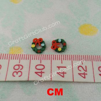 50 Green Xmas Garland Ribbon Clay Nail Art 3D Free Shipping