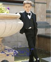 Free shipping Child suit male  formal dress boy flower children's clothing blazer  formal dress 6 piece set