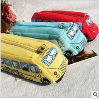 Retail!Cute Cartoon Bus pencil bag/pencil pouch/pencil case Free Shipping